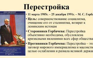 Перестройка горбачева. общественно-политический кризис и государственной переворот 1991 г. разрушение ссср и провозглашение снг