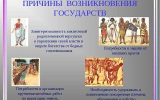 Формирование и становление первых государств