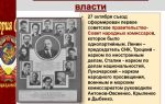 Создание советского правительства