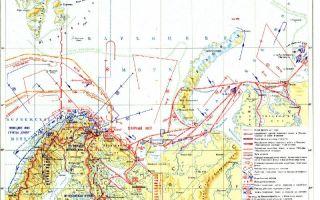 Действия северного флота на коммуникациях в заполярье