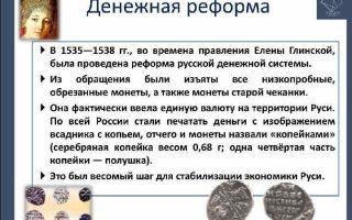 Первые денежные реформы русского государства