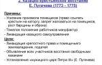Предпосылки восстания пугачева