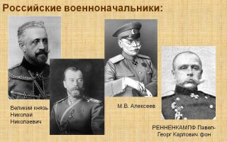 Самые знаменитые военачальники армии антанты