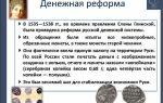 История денежных реформ русского государства