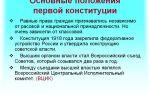 Основные положения первой советской конституции 1918 г.