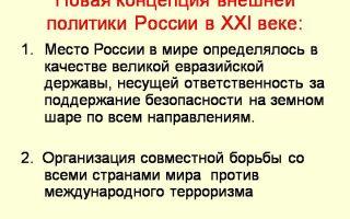 Концепция внешней политики россии в 21 веке