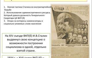 Причины установления власти иосифа сталина