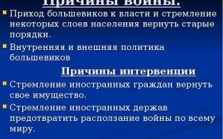 Внутренняя и внешняя политика большевистской власти