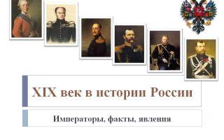 История россии xix век