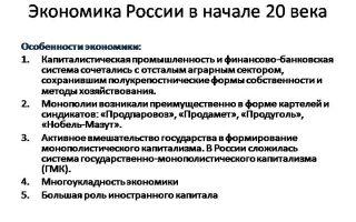 Российская экономика в начале xx века