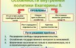 Особенности внутренней политики екатерины ii