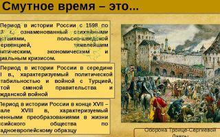 Культура россии в смутное время