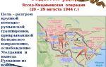 Румыния накануне освобождения. подготовка ясско-киши невской операции