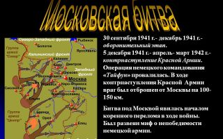 Московская наступательная операция 1941 — 1942 годов (5 декабря 41 — 7 января 42)