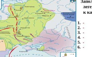 Карта: походы владимира и ярослава мудрого