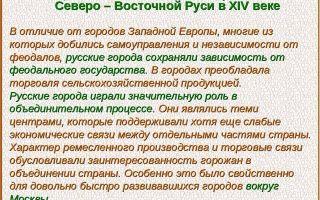 Социально-экономическое развитие северо-восточной руси