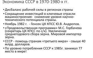 Ссср в 1970 — 1980-е гг.