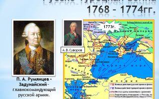 Русско-турецкая война 1768-1774 гг