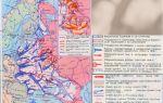 Карта: нападение фашисткой германии на советский союз (1941-1942 гг.)