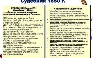 Судебник 1550 г. общая характеристика, система и источники