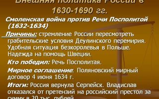 Внешняя политика россии в 1630-1690-е гг.