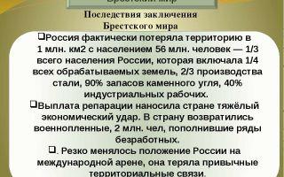 Подписание брестского мира россией: причины, условия, следствия