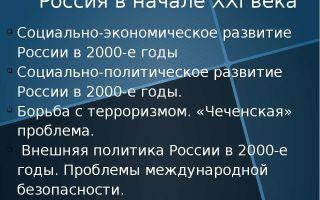 Россия в начале 21 века