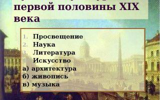 Русская культура в первой половине xix века