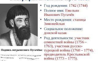 Биография и судьба емельяна пугачева