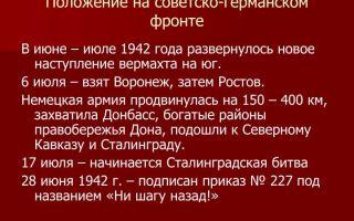 Положение на советско-германском фронте
