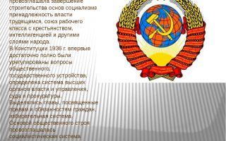 Конституция ссср 1936 года