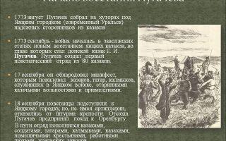 Начало восстания пугачева