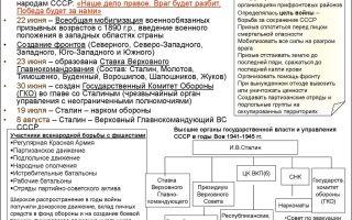 Деятельность советских и партийных органов по мобилизации сил и средств для борьбы с агрессором.