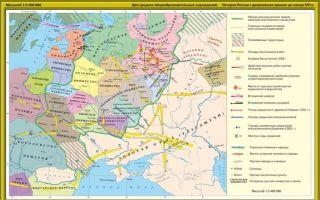 Карта: русские земли в хii веке