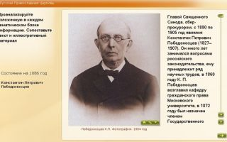 Русская православная церковь. к.п. победоносцев