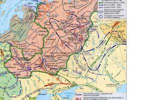 Карта монголо-татарского нашествия