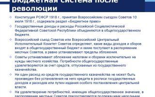 Финансовая система россии после революции