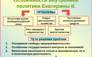 Характеристика внешней политики екатерины ii