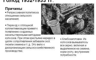 Голод 1932 — 1933 гг.