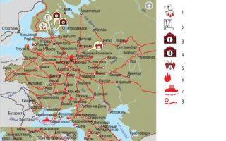 Карта: революция 1905-1907 гг.