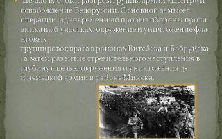 Разгром 4 немецкой армии: освобождение минска