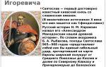 Правление князя святослава игоревича