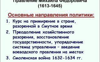 Правление михаила федоровича