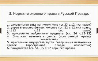 Уголовный контекст правосудия по русской правде