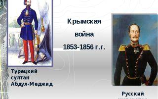 Крымская война (1853-1856 г.)