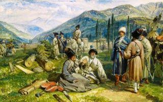 Народы кавказа в первой половине xix века