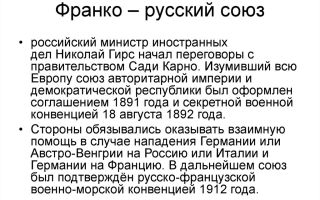 Франко-русский союз и ситуация в европе к концу xix века
