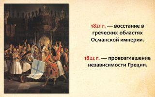 Греческое восстание и отношение к нему царизма