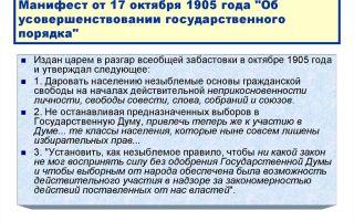 Манифест об усовершенствовании государственного порядка 17 октября 1905 года