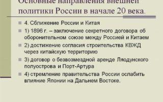 Внешняя политика россии в начале xx века